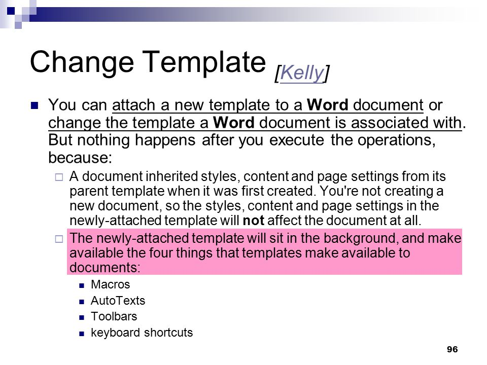 Change Template [Kelly]